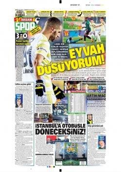 Fenerbahçe manşetleri - 10 Aralık