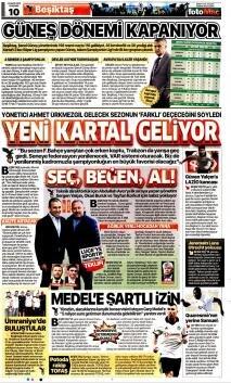 Beşiktaş manşetleri - 23 Mayıs