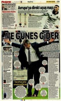 Beşiktaş gazete manşetleri - 24 Mayıs