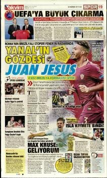 Fenerbahçe Manşetleri (25 Haziran)