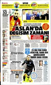 Galatasaray Manşetleri (25 Haziran)