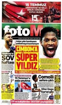 Günün Galatasaray manşetleri (15 Temmuz 2019)