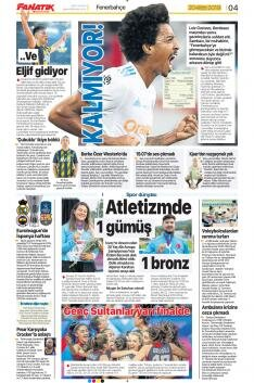Fenerbahçe Manşetleri (20 Temmuz)