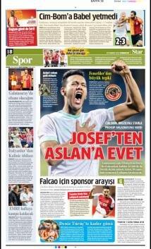 Galatasaray Manşetleri (20 Temmuz)