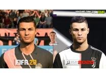 Bir oyuncu iki farklı görünüm: FIFA vs PES yüz kıyaslaması! Galerisi