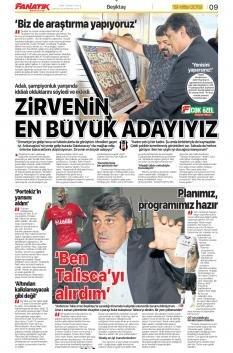 Beşiktaş Manşetleri (19 Ekim)