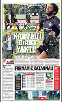 Beşiktaş Manşetleri (20 Ekim)