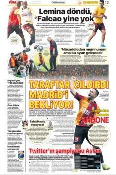 Galatasaray Manşetleri (20 Ekim)