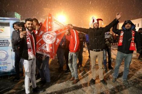 Sivas'ta Beşiktaş galibiyeti coşkusu