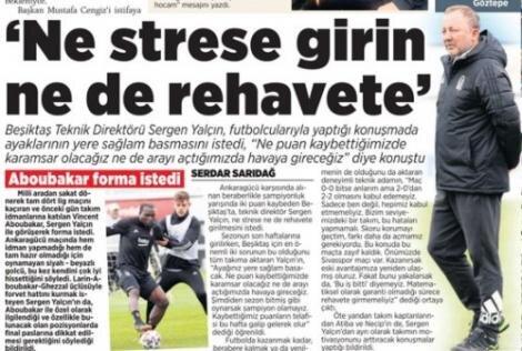 Beşiktaş manşetleri - 19 Nisan
