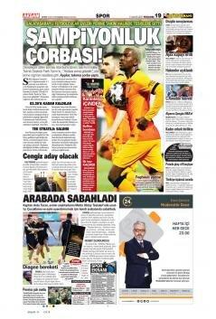 Galatasaray manşetleri - 13 Mayıs