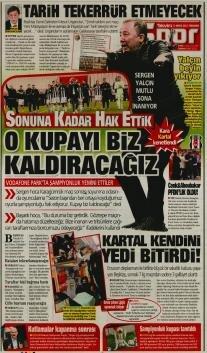 Beşiktaş manşetleri - 13 Mayıs