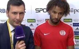 Maç sonunda gülme garantili Sangare ve Harun röportajı...