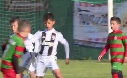 Cristiano Ronaldo'nun 'topçu' oğlundan bir devrede 7 gol!