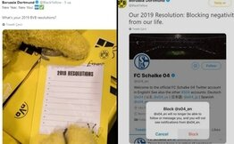 Dortmund'dan Schalke'ye 2019 için çok konuşulan gönderme!