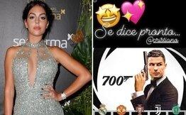 Cristiano  için Georgina'dan James Bond ve 700 paylaşımı