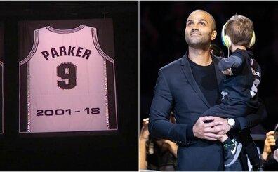Tony Parker'ın 9 numaralı Spurs forması, törenle emekliye ayrıldı!