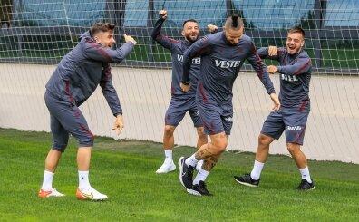 Trabzonspor'da ara vermek yok: Günün antrenmanından kareler