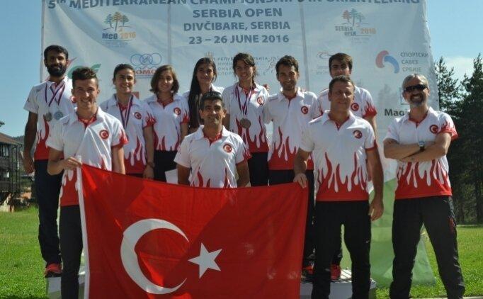 Akdeniz Ülkeleri Oryantiring Şampiyonası'nda Türkiye birinci oldu