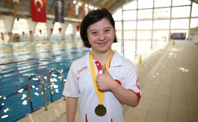 Down sendromlu yüzücünün altın madalya hedefi