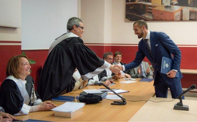 Giorgio Chiellini mezun oldu!