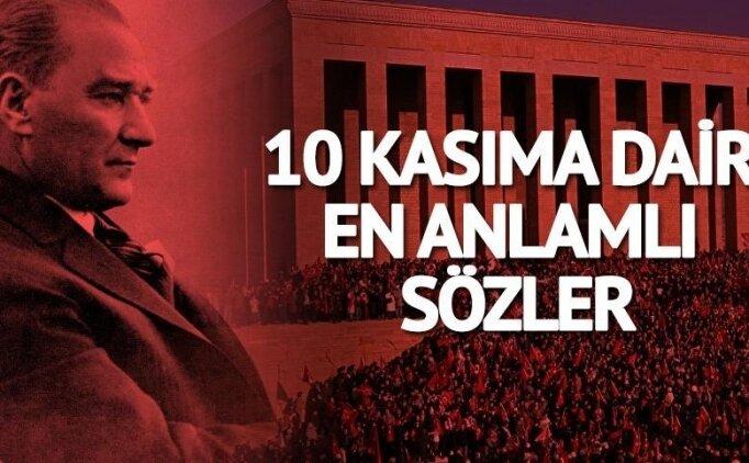 10 Kasım Atatürk şiirleri, mesajları! 2018 en güzel 10 Kasım mesajları, paylaşımları