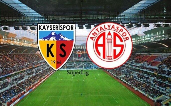Kayserispor Antalyaspor maçı CANLI saat kaçta hangi kanalda?