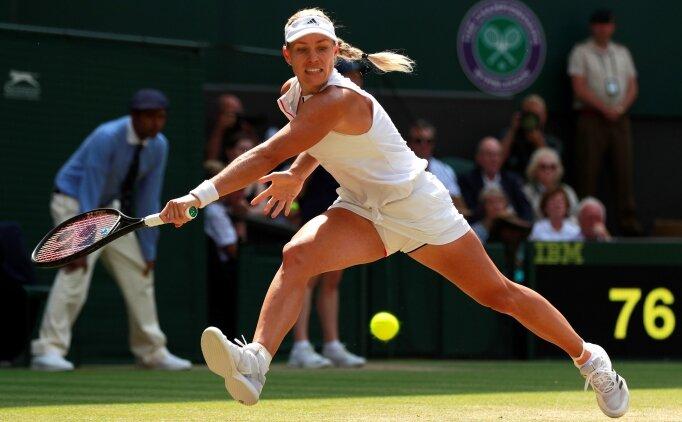 Wimbledon'da ilk finalist Angelique Kerber!