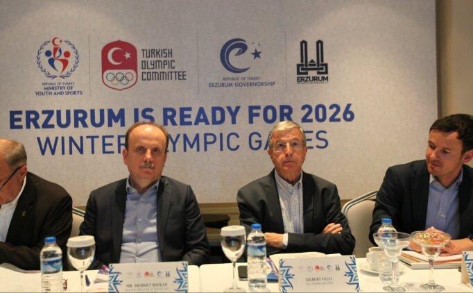 Erzurum'a gelen heyet Olimpiyat için incelemelere başladı