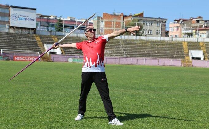 Görme engelli ciritçinin hedefi olimpiyatlar
