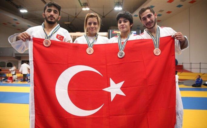 Gençler Avrupa Judo Şampiyonası'nda 4 madalya