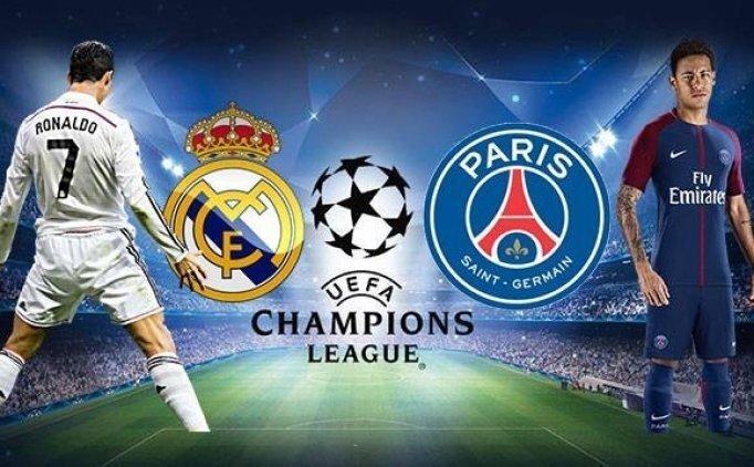 Real Madrid Paris Saint Germain (PSG) şifresiz canlı veren kanallar Canlı Şifresiz