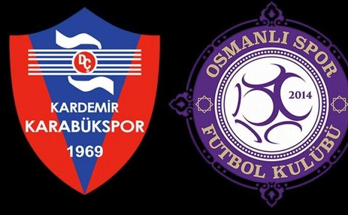Karabükspor Osmanlıspor maçı canlı hangi kanalda saat kaçta?