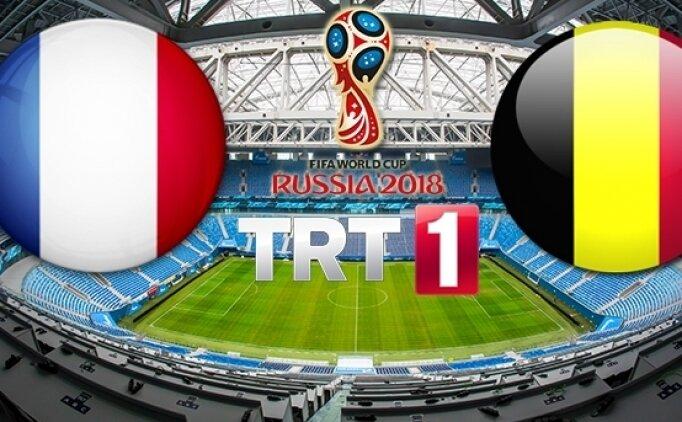 Fransa Belçika Canlı izle TRT 1, Fransa Belçika maçı saat kaçta?