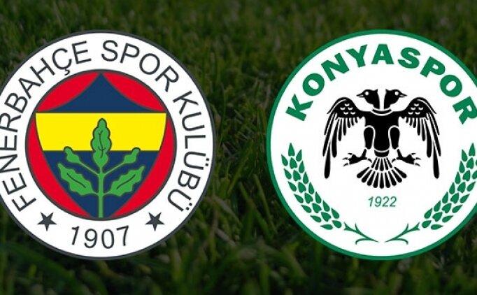 Fenerbahçe Konyaspor maçı canlı hangi kanalda? Fenerbahçe Konya saat kaçta?