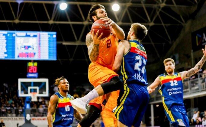 Galatasaray, Andorra'da uzatmada kaybetti