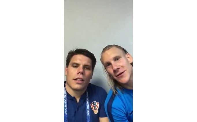 Domagoj Vida'dan Rusya maçı sonrası 'Yaşasın Ukrayna'