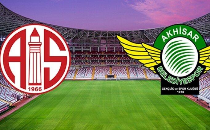 Antalyaspor Akhisarspor maçı canlı hangi kanalda saat kaçta?