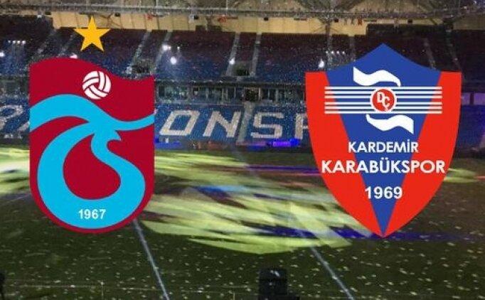 Trabzonspor Karabükspor maçı canlı hangi kanalda? Trabzon Karabük saat kaçta?