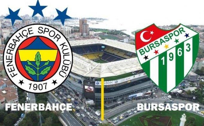 Fenerbahçe Bursaspor maçı CANLI saat kaçta hangi kanalda?
