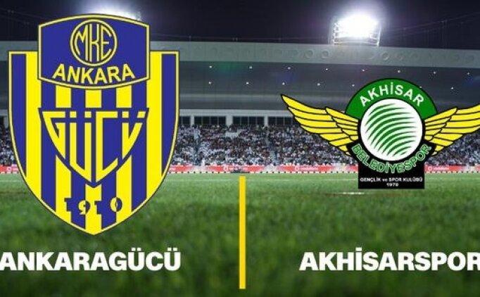 Ankaragücü Akhisarspor maçı canlı hangi kanalda saat kaçta?