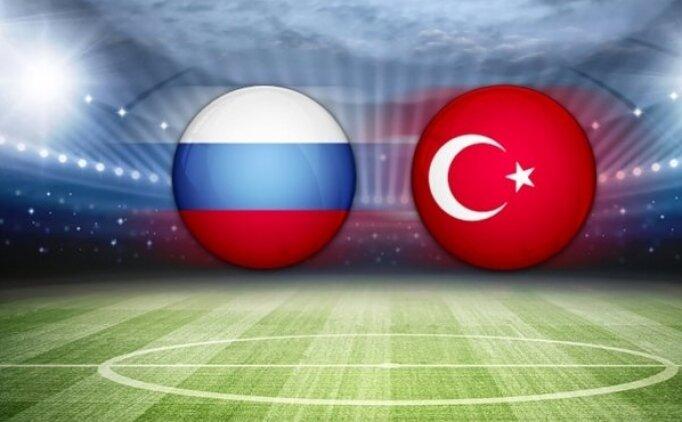 Bu akşam Rusya Türkiye maçı hangi kanalda? Milli maç saat kaçta başlayacak?