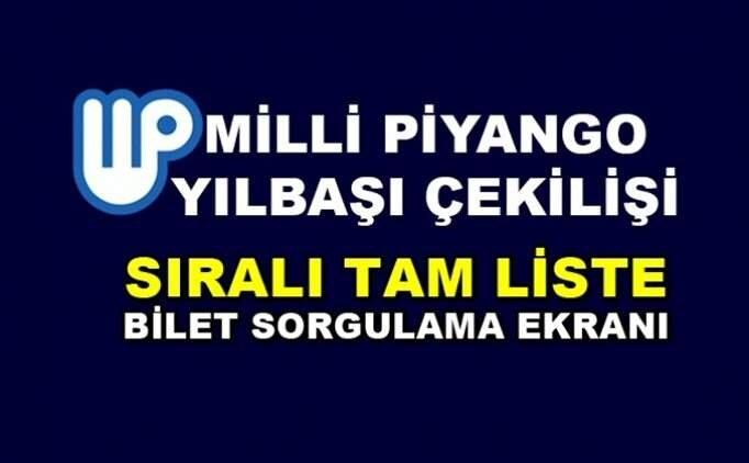 2019 MPİ çekilişi kazanan numaralar, Milli Piyango ikramiye sorgulama sayfası