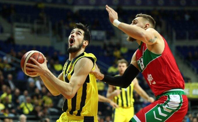 Fenerbahçe, Karşıyaka karşısında zorlansa da kazandı