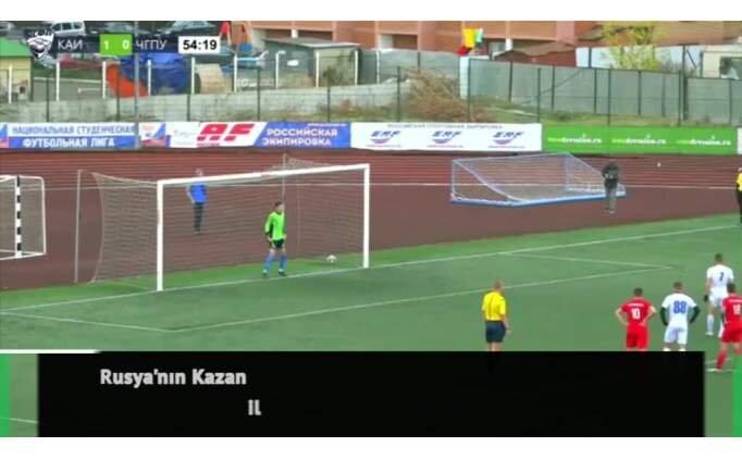 Rus öğrenciden ilginç penaltı!