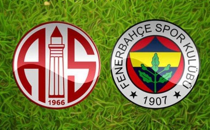 ÖZETLER Antalyaspor 0-0 Fenerbahçe maçı detayları