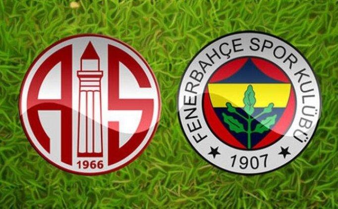 Antalyaspor 0-0 Fenerbahçe maçı özeti izle