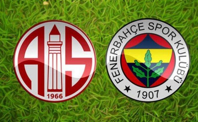 (GENİŞ ÖZET) Antalyaspor 0-0 Fenerbahçe maçı izle