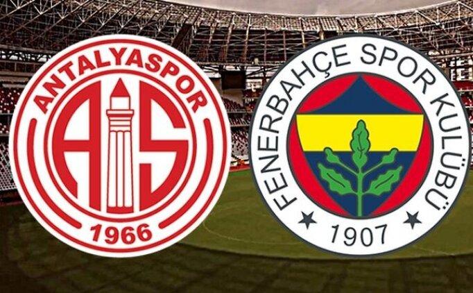 Süper Lig Antalyaspor Fenerbahçe maçı özeti, pozisyonları izle