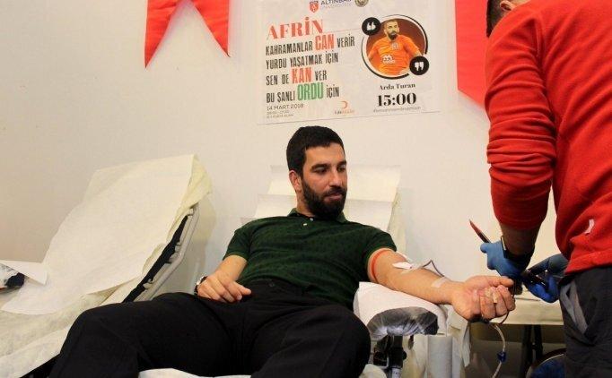 Arda Turan, kan bağışında bulundu